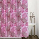 Pink Leaves Shower Curtain Autumn / Fall (2 DAY SHIPPING)