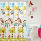 Lovely little monkey waterproof Shower Curtain 72x72 (2 DAY SHIPPING)