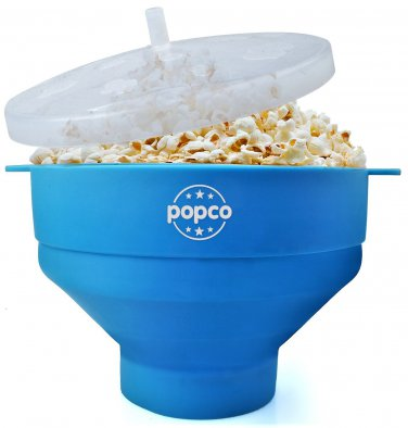 Silicone Microwave Popcorn Popper with Handles (2 DAY SHIPPING)