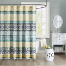 "Intelligent Design Arissa  Shower Curtain, 72 x 72"", Green/Yellow (2 DAY SHIPPING)"
