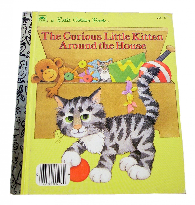 The Curious Little Kitten Around the House by Linda Hayward Little Golden Book 1986