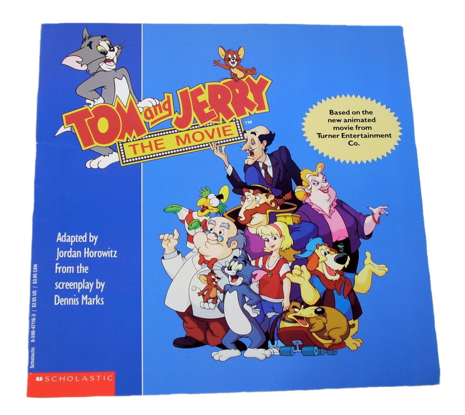 Tom and Jerry: The Movie by Jordan Horowitz 1993 Paperback