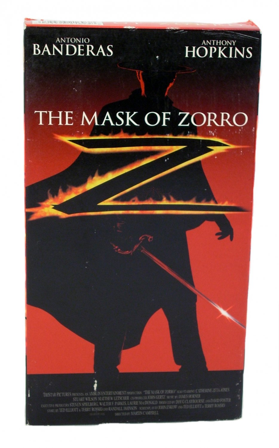 The Mask of Zorro 1998 VHS