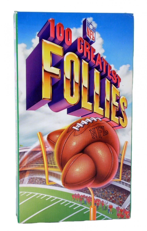 NFL's 100 Greatest Follies VHS 1994