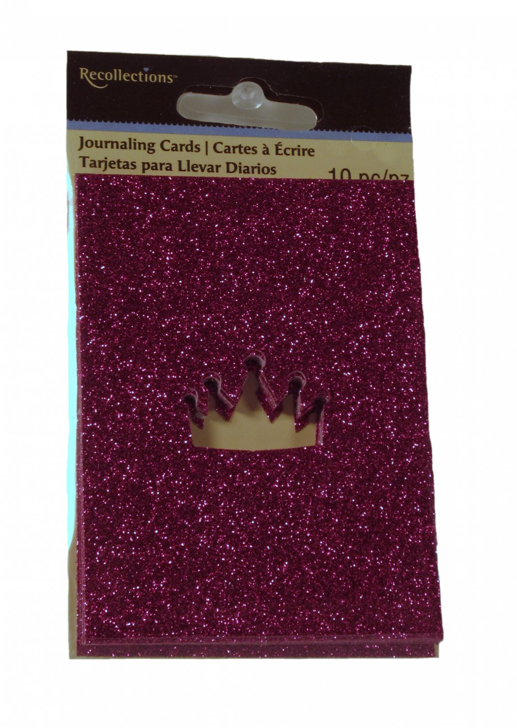 Recollections Pink Die Cut Crown Journal Cards