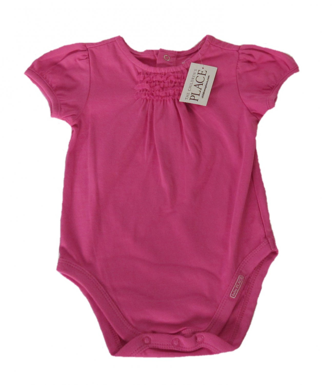 The Children's Place Infant Girls Pink Short Sleeve Bodysuit 3-6 Months