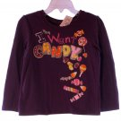The Children's Place Toddler Girls Purple I Want Candy Long Sleeve T-Shirt 2T
