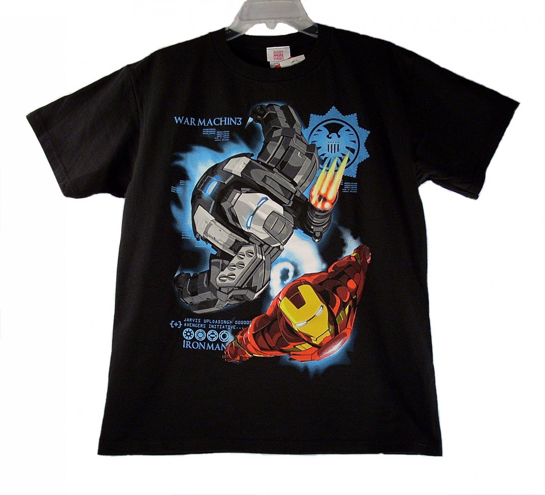 Marvel Iron Man 2 War Machine Kid Boys Black Short Sleeve T Shirt X-Large