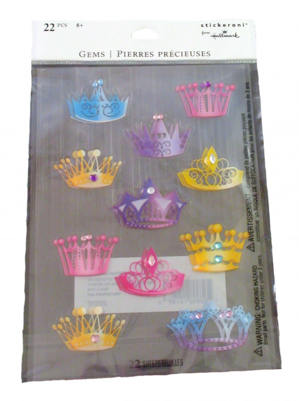 Hallmark Crown Tiara Gem Stickers