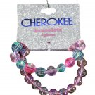 Cherokee Kid Girls Bead Stretch Slip On Bracelets 2 pc
