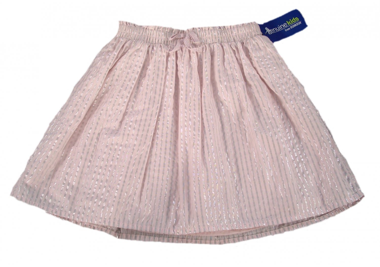 Genuine Kids from Oshkosh Toddler Girls Pale Pink Silver Stripe Skirt 5T