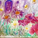 "A Complex of Garden Delights' 11""x15"" Original Fine Art Watercolor painting wall art and home décor"