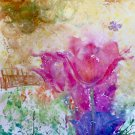 "'Pinky Spring'11""x15""Original Fine Art Watercolor painting wall art and home décor"