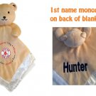 Boston RED SOX MLB Comfort Security Bear Security Blanket Crib toy Lovey Free Monogram