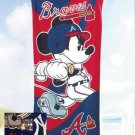Mickey Mouse MLB Atlanta BRAVES Beach Towel - Free Monogram