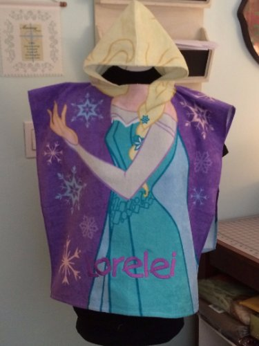 Girl's Hooded Towel Poncho � Frozen Elsa - Free Monogram