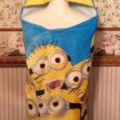 Despicable Me2 MINION Super Soft Hooded BeachTowel Wrap - FREE Monogram