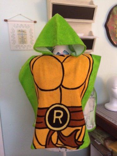 TMNT Teenage Mutant Ninja Turtles Boy's Hooded Towel Poncho - FREE Monogram