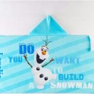 Kids Hooded Beach Towel Wrap Dinsey FROZEN OLAF