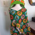 TMNT Teenage Mutant Ninja Turtles Michelangelo Toddler Hooded Towel wrap FREE Monogram