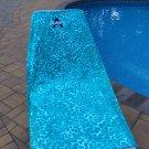 Large Oversized 34x64 Beach Towel - Leopard Deep Aqua - Monogrammed - Personalized