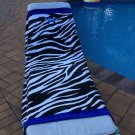 Large Oversized Beach Towel - Zebra Print - Monogrammed - Personalized