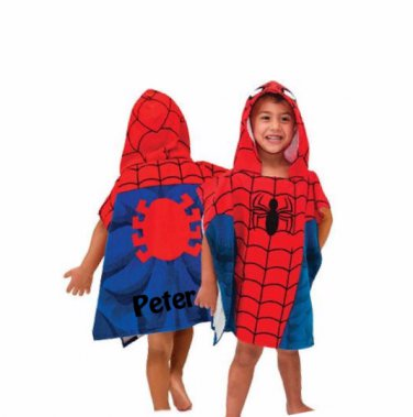 Spider-Man Hooded Beach towel Bath Towel poncho FREE Monogam