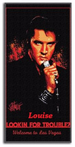 Elvis Presley Looking for Trouble Beach Towel - Personalized