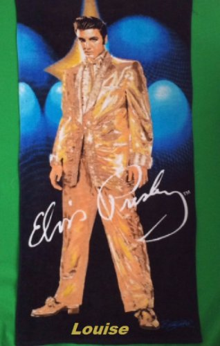 Elvis Presley Beach Towel Gold Suit Style- Personalized