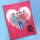 One Direction Zebra Throw Blanket - Personalized Monogrammed
