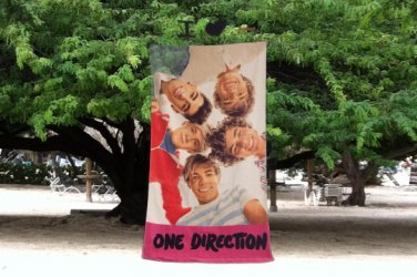 1D One Direction Huddle Beach Towel Personalized