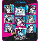 "Monster High 46"" x 60"" Plush Throw Blanket - Personalized Monogrammed"