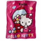 Hello Kitty HK Kitty Sweet Scents Scented Throw Blanket Monogrammed