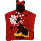 DISNEY Minnie Mouse Super Soft Plush Fleece Hooded Poncho Blanket, Personalized