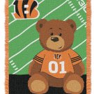 NFL Baby Throw Blanket Cincinnati BENGALS Personalized