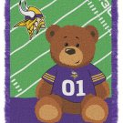 NFL Baby Throw Blanket Minnesota VIKINGS  Personalized