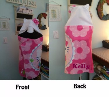 HK Hello Kitty Hooded Beach Bath Towel Wrap � Personalized