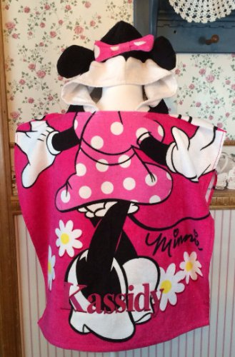 Disney Minnie Mouse Hooded Beach towel poncho � Personalized
