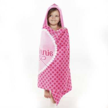 Minnie Mouse Bowtique Hooded Towel Bath Wrap Beach Towel - Personalized