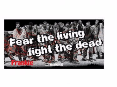 The Walking Dead Beach Towel - Personalized Fear the Living Fight the Dead