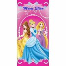 Disney Princess Jewels Beach Towel, Pink - Personalized