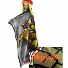 TMNT Teenage Mutant Ninja Turtles HoodiWinks Blanket Throw Helmut Hat - Personalized
