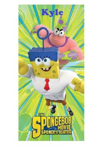 SpongeBob 'Super Awesomeness' Movie Beach Towel - Personalized