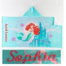 Disney The Little Mermaid Hooded Beach Towel Bath Wrap Ariel Mermaid - Personalized