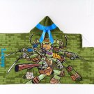 TMNT Hooded Beach Towel Bath Wrap Leonardo Teenage Mutant Ninja Turtles - Personalized