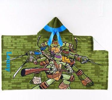 TMNT Hooded Beach Towel Bath Wrap Leonardo Teenage Mutant Ninja Turtles - Personalized