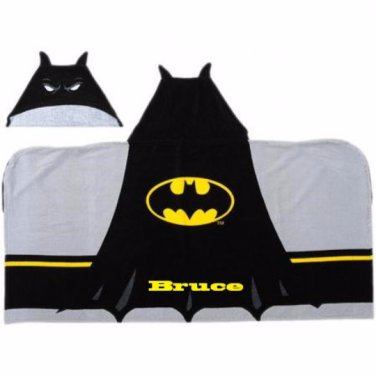 BOYS Hooded Beach Towel Bath Wrap � BATMAN Personalized