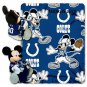 Disney Mickey Mouse NFL Indianoplis COLTS Fleece Throw Blanket & Mickey Hugger - Personalized