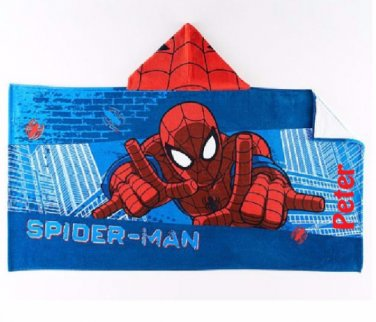 SPIDER-MAN Hooded Beach Towel Bath Wrap Personalized