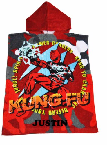 Jungle Fury POWER RANGERS Boy's Hooded Towel Poncho � Personalized